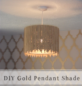 Gold pendant shade