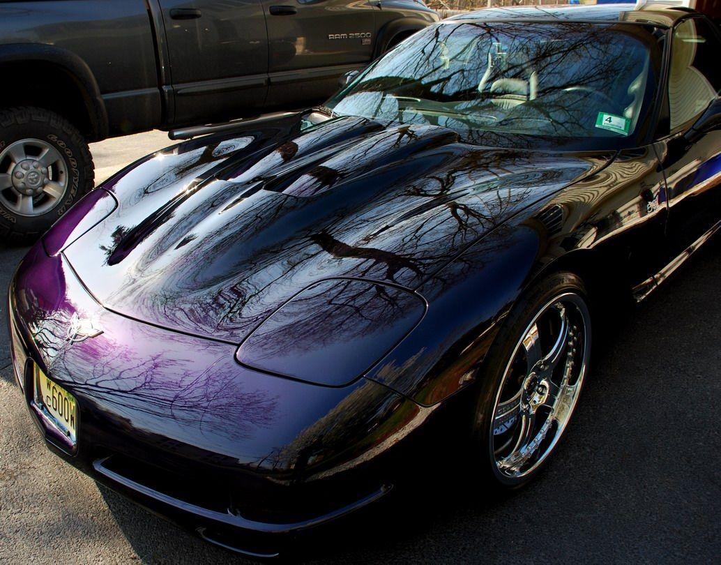 Show Me Your Non Stock Paint Colors Corvette Forum Purple Car Car Paint Colors Black Car Paint