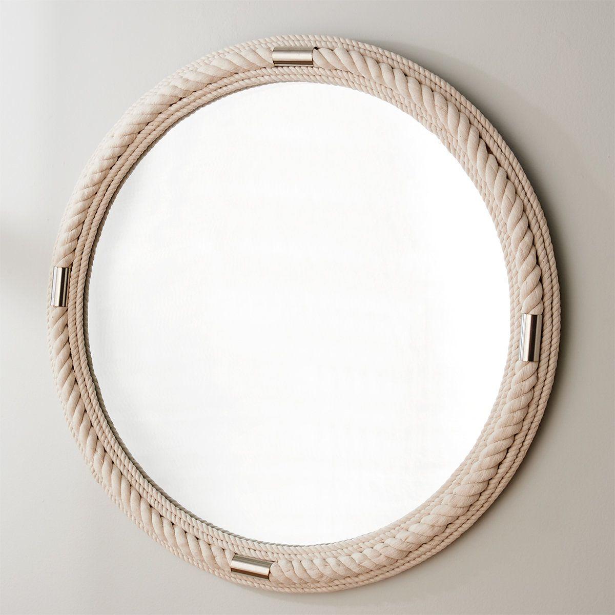 White Rope Coastal Mirror