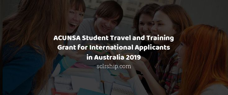 acunsa student travel and training grant for international