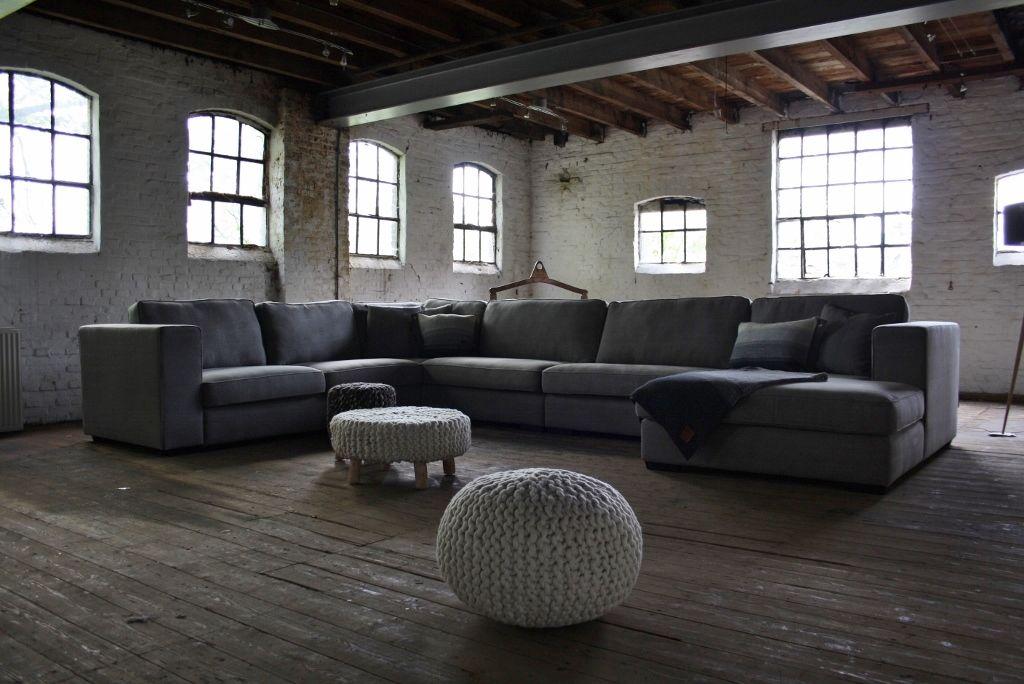 Leefhoek michelle s hoekbank in u opstelling in landelijke stijl van room108 meubilex huis - Sofa landelijke stijl stijlvol ...