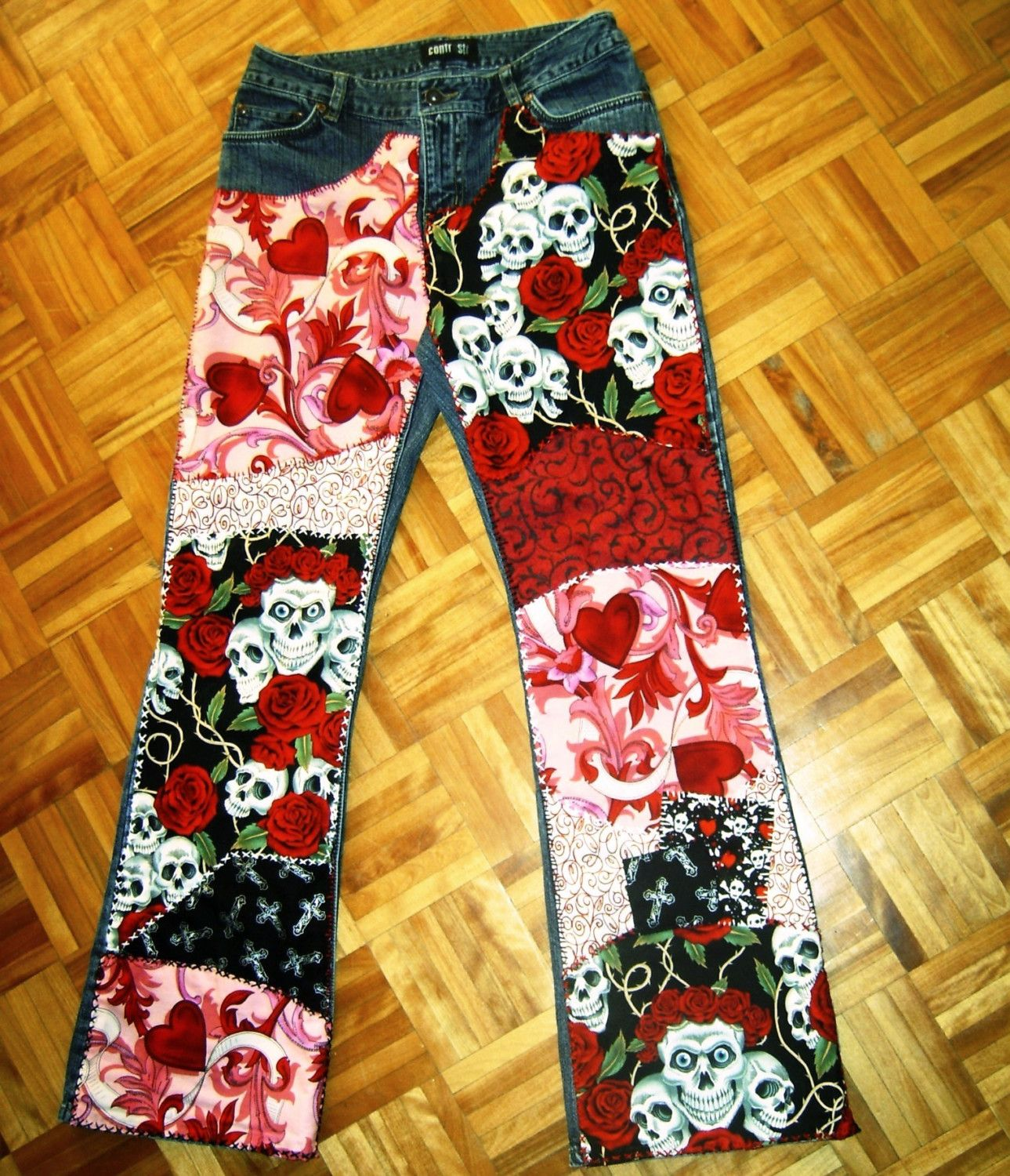 Love You to Death jeans by www.4getmeknot.etsy.com