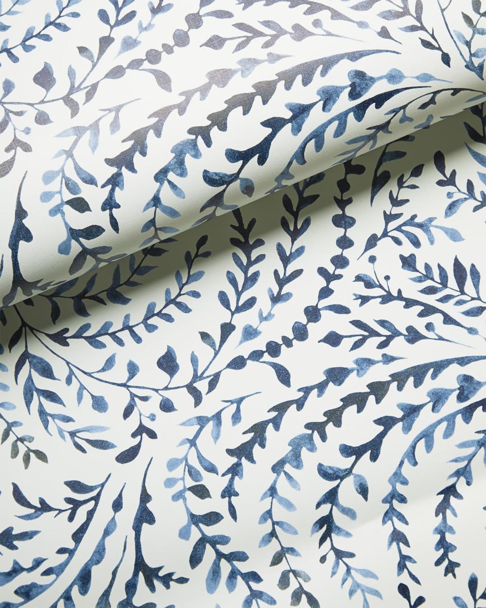 Serena & Lily Priano Wallpaper Blue, white wallpaper