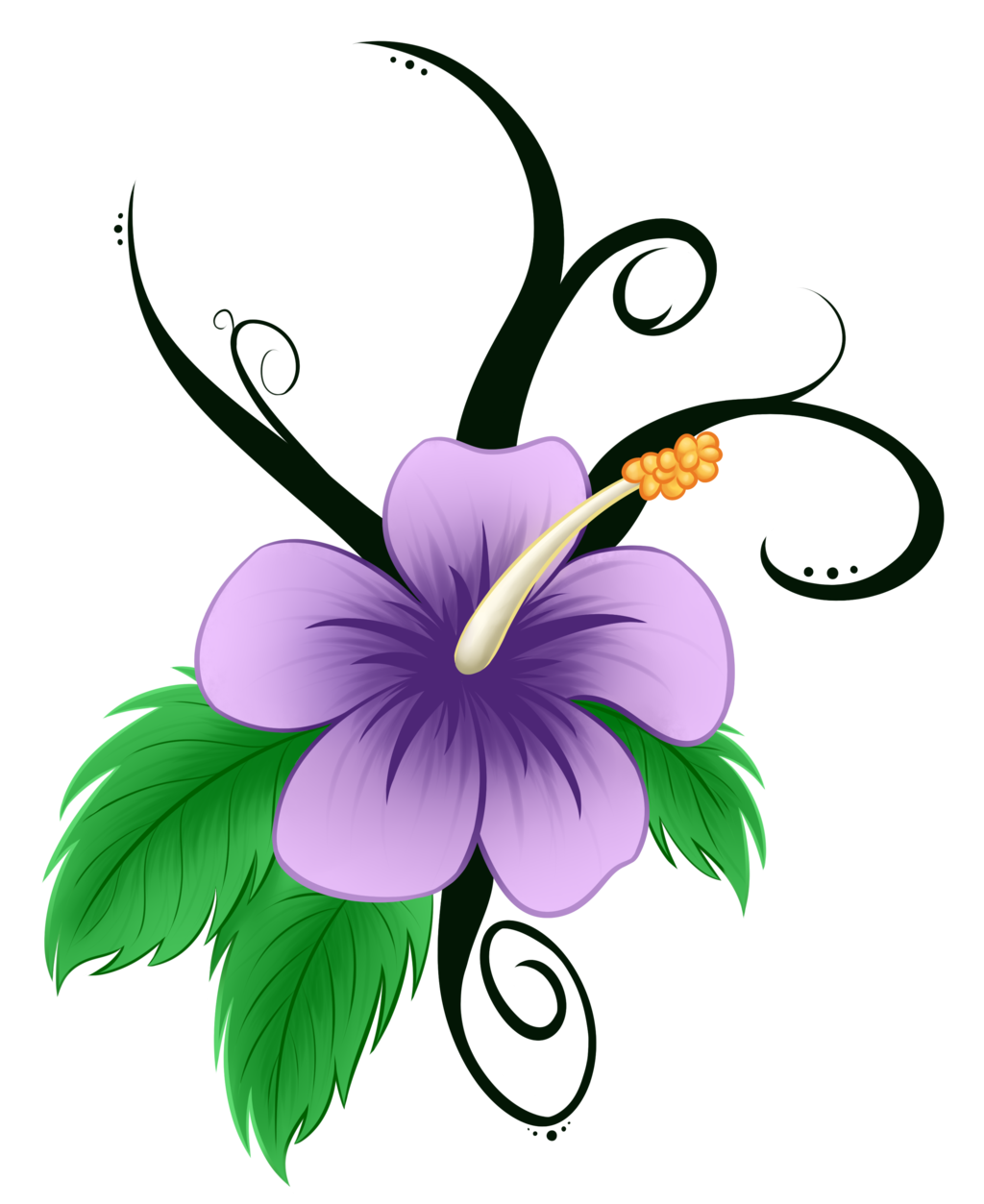Hawaiian Hibiscus Flower Cartoon Reviewwalls