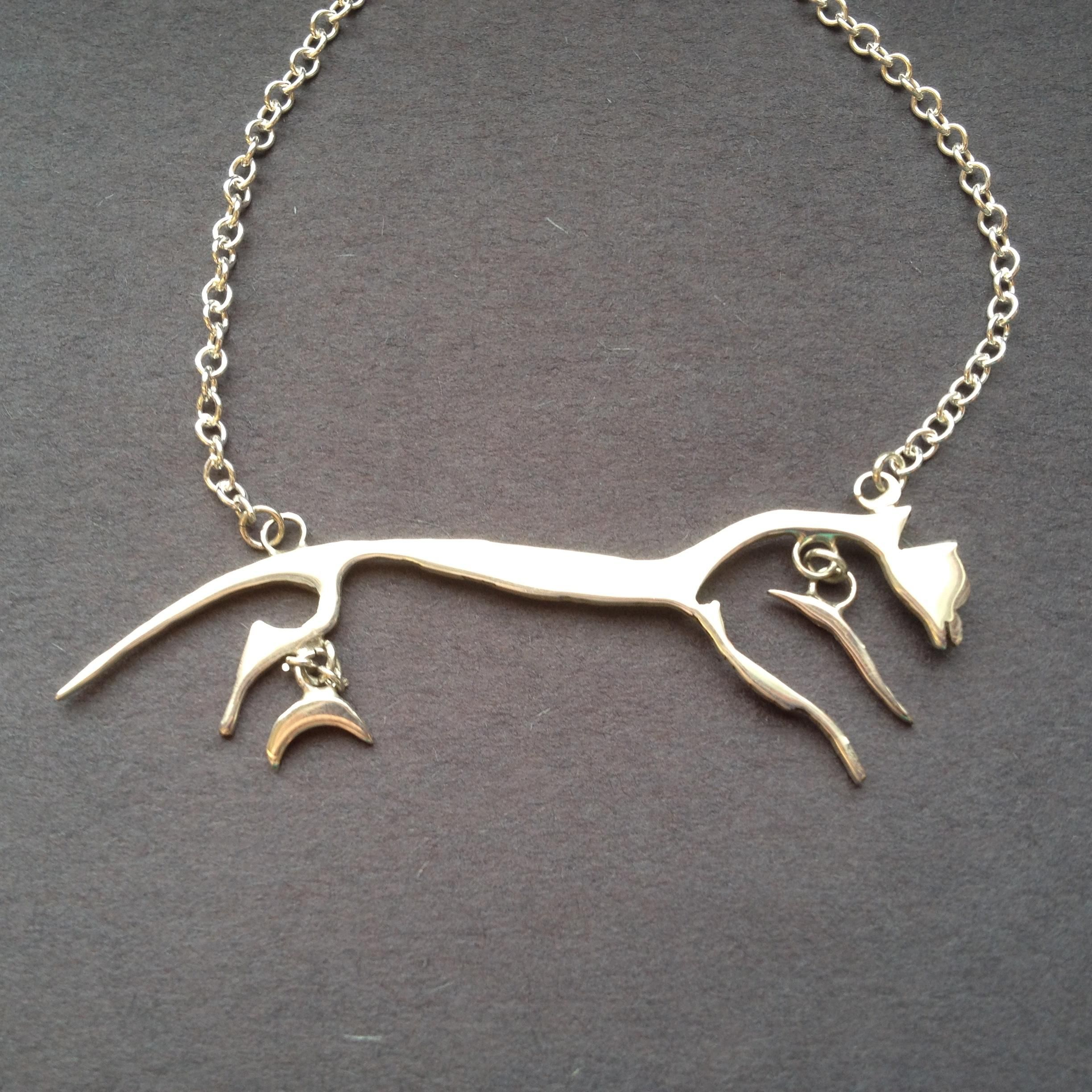 from and bit gold by dee equestrian stirrup rose loriece product rg horse necklace designs
