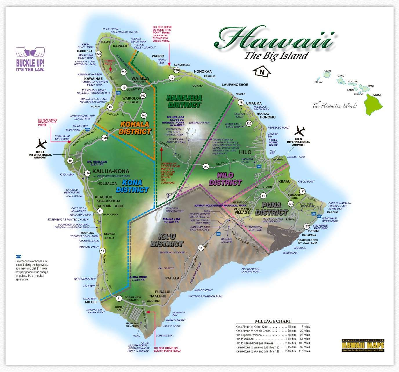 Hawaii Maps Hawaii Island Map This Highly Detailed Rental Car - Road map of hawaii