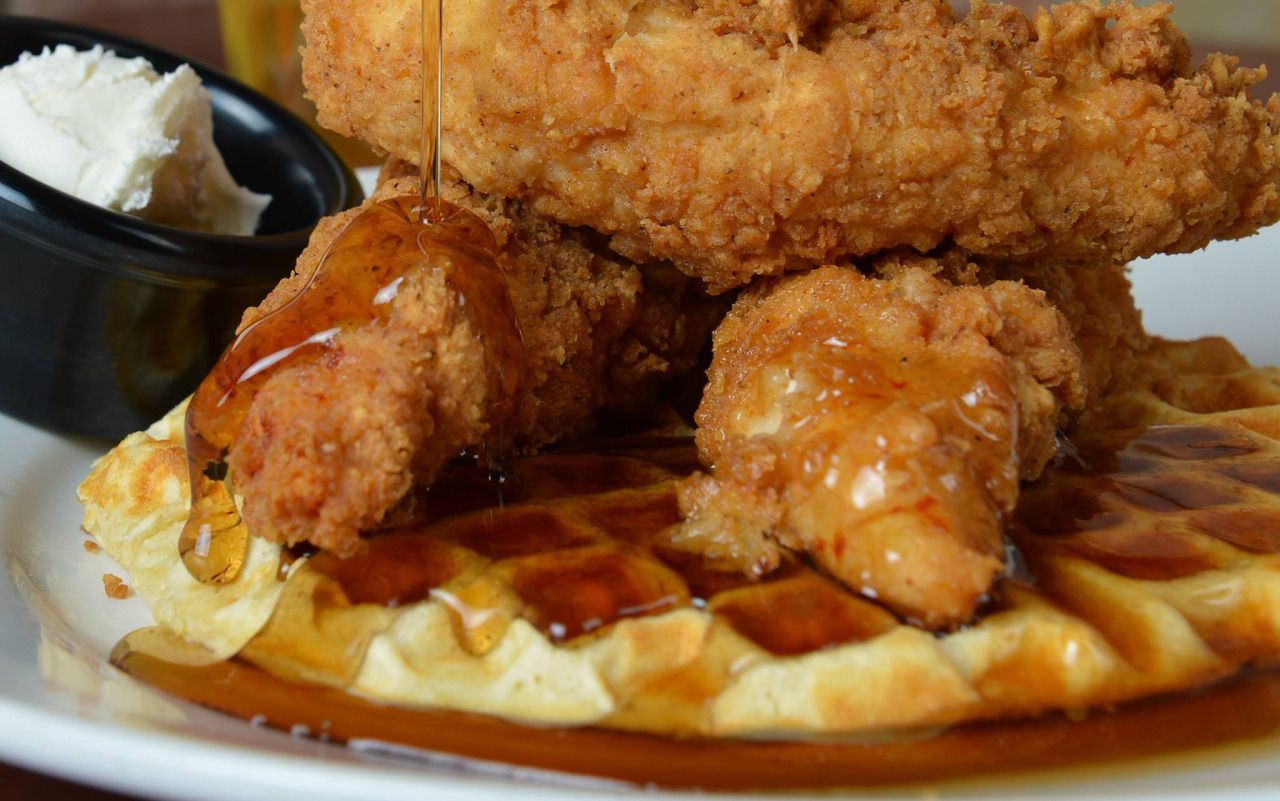 Imagine This Waffle House Waffles And Syrup Chick Fil A Chicken