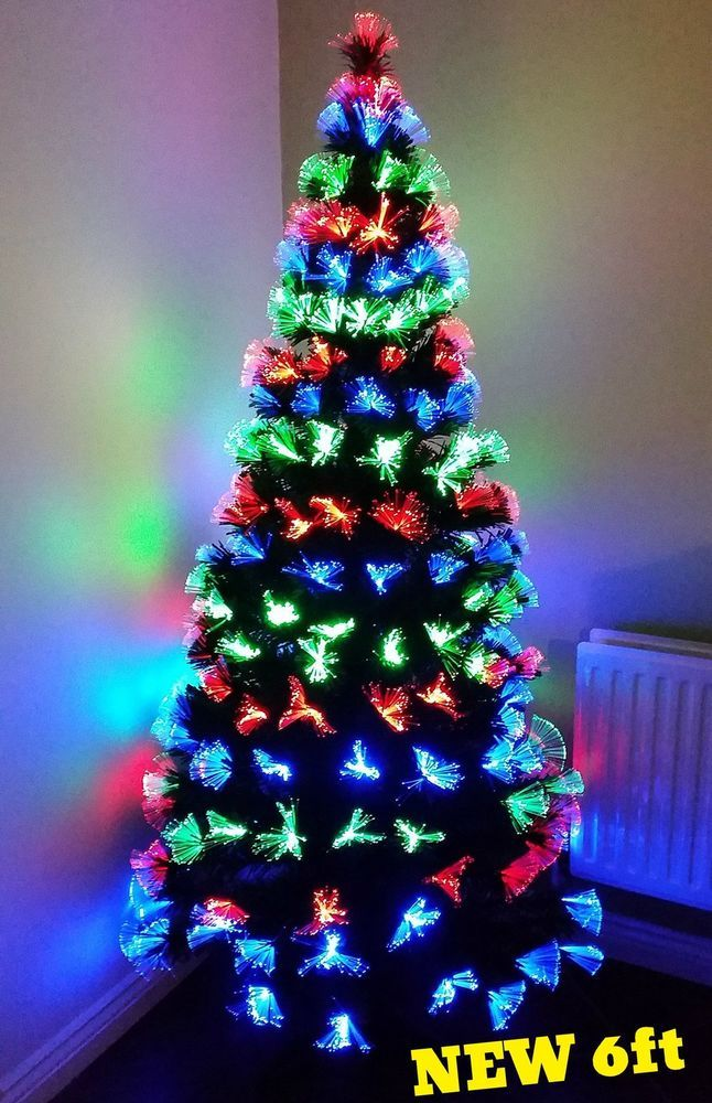 44bbed49e2ea1 6ft Christmas Tree Fibre Optic LED Light Artificial Twinkle Indoor Holiday  Decor