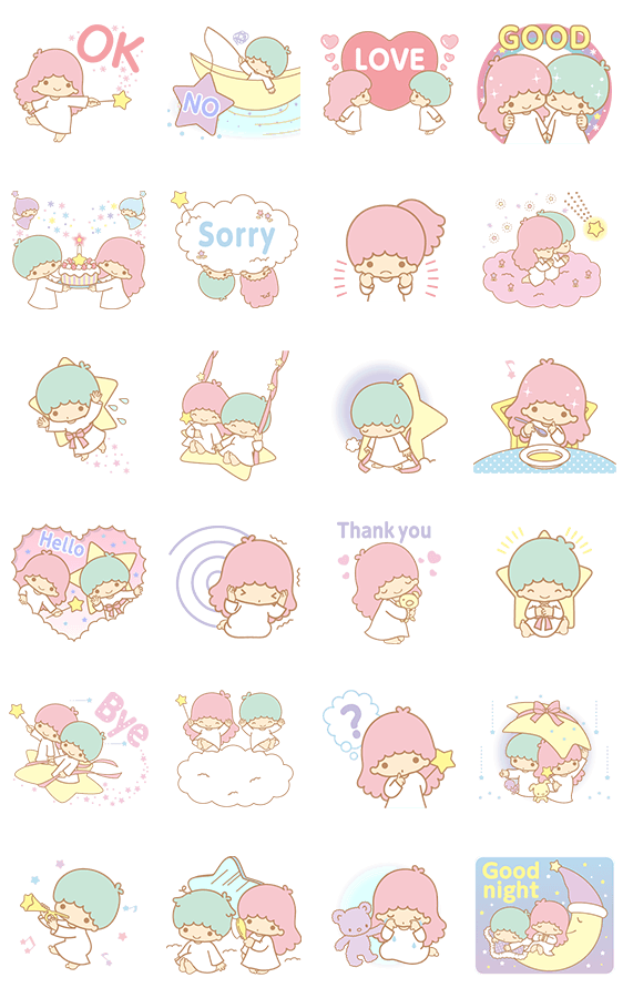 画像 - Little Twin Stars Animated Stickers by Sanrio - Line.me ...