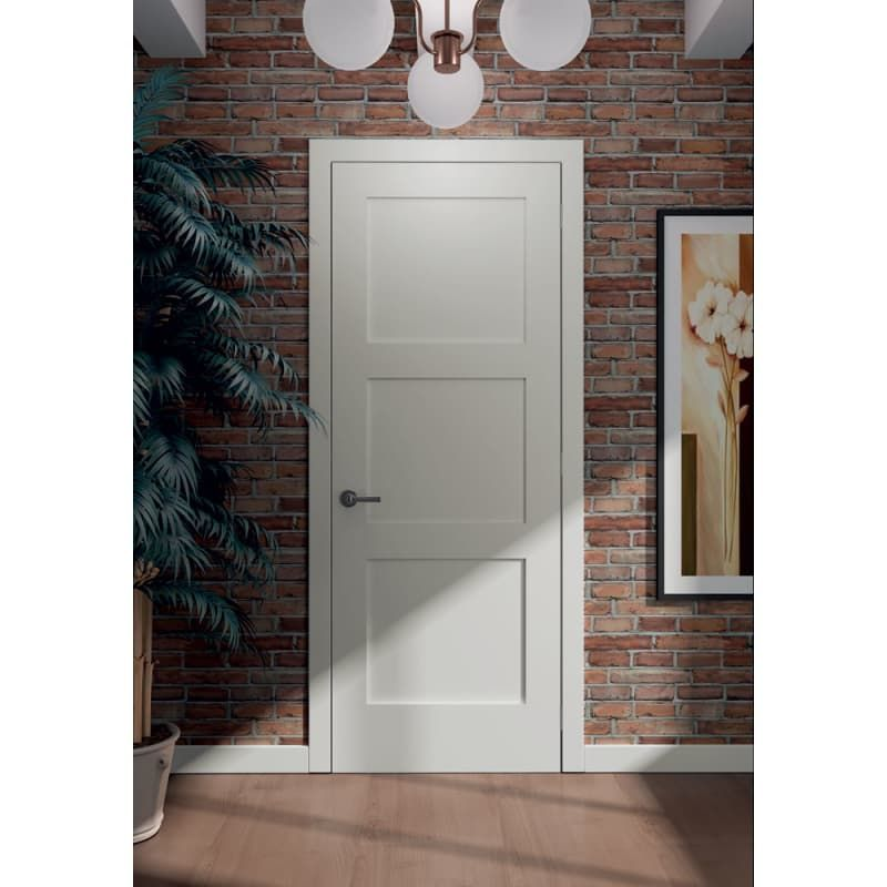 Frameport Fa 3339149w Primed Shaker 32 Inch By 96 Inch Flat 3 Panel Interior Slab Passage Door Doors Interior Wood Doors Interior Shaker Doors