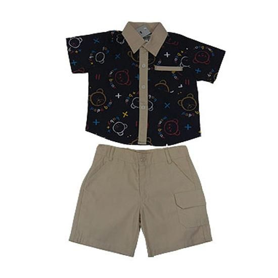 Baby Bear In Love 2 Pieces Set - Baby Boy Clothes