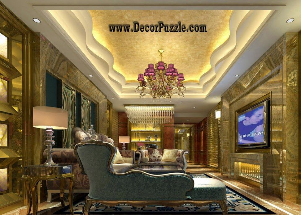 Plaster Of Paris Design For Luxury Living Room 2015, Pop Ceiling