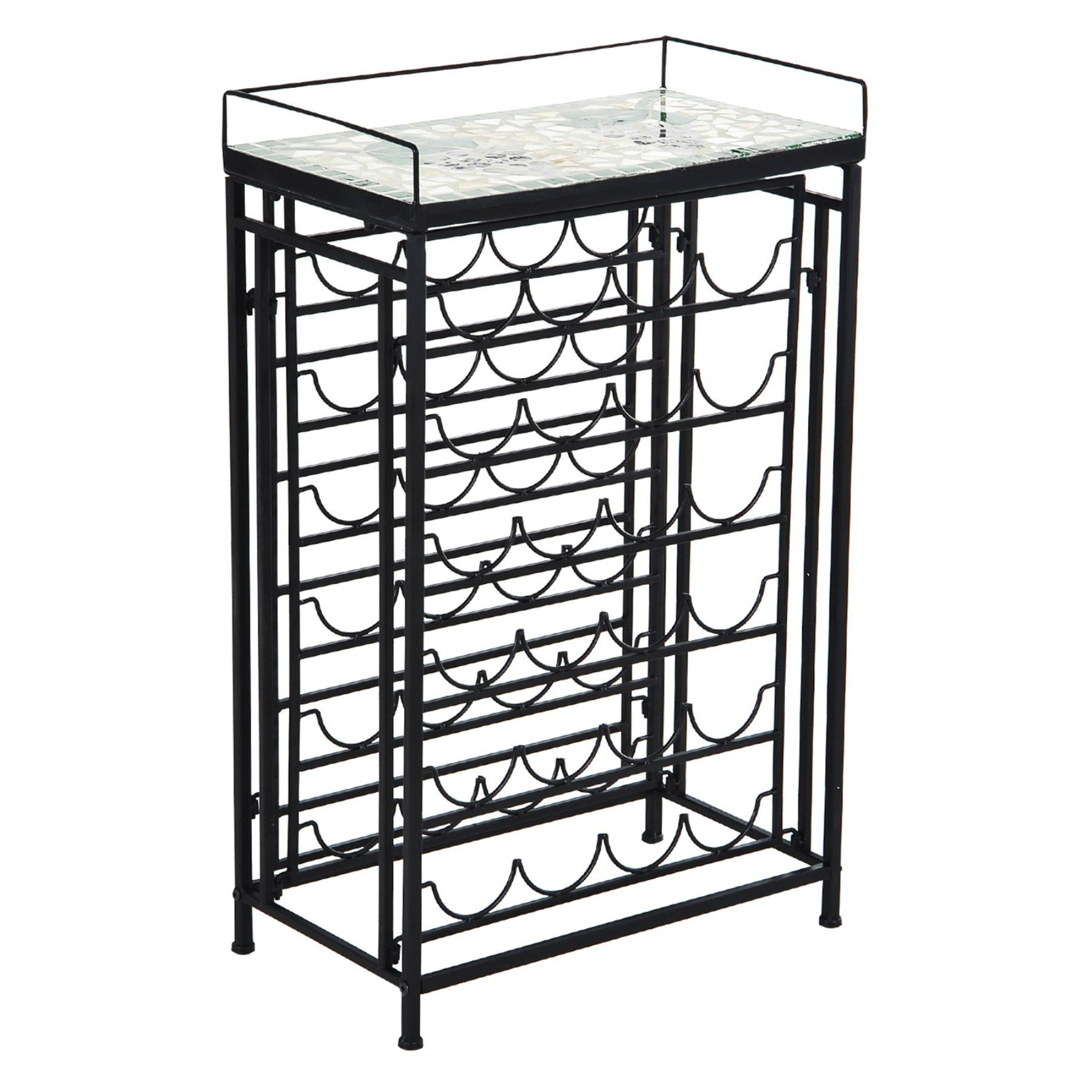 25 Bottle Metal Wine Rack Table  801 011