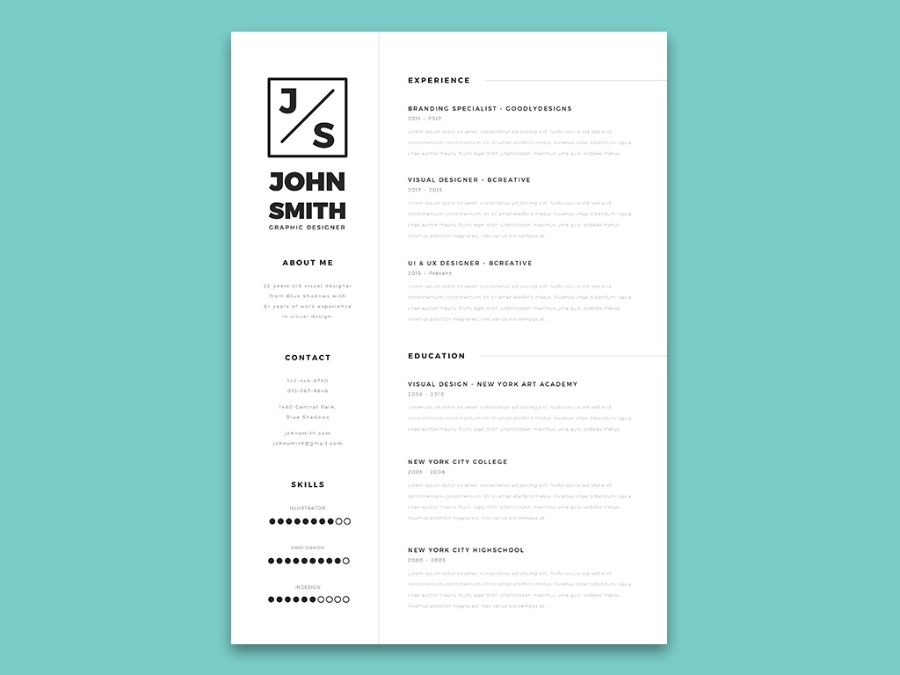 Minimalistic Resume  Cover Letter Template  Design  Freebies