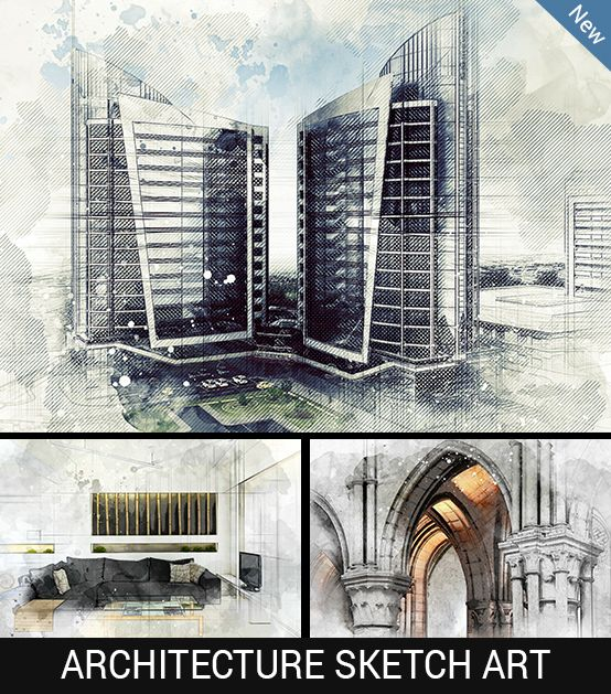 Architecture Sketch Art Photoshop Action Photoshop Actions