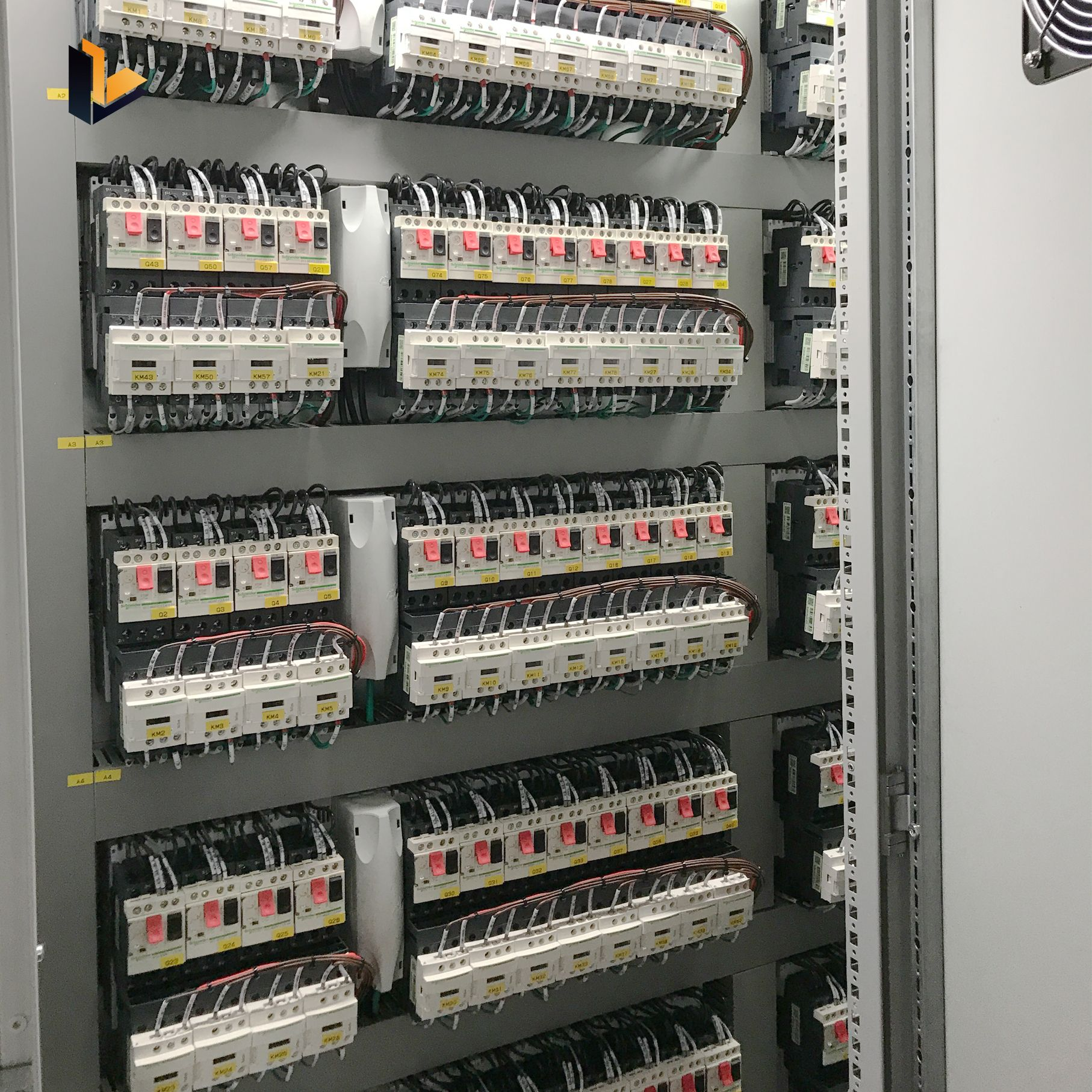 Electrical Plc Control Cabinet Human Machine Interface Network Switch Programmable Logic Controller