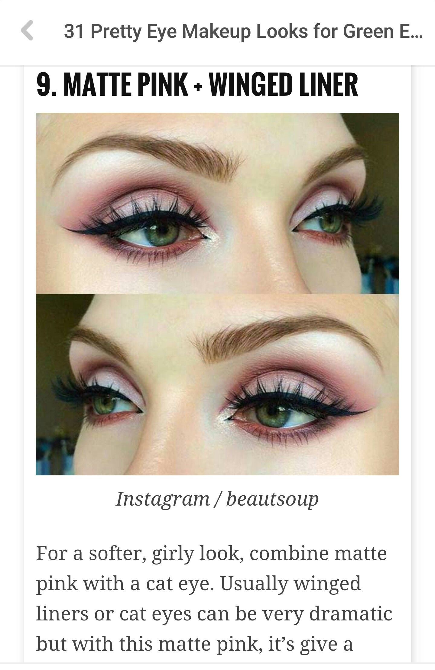 pin by brittany brooke on makeup | makeup looks for green