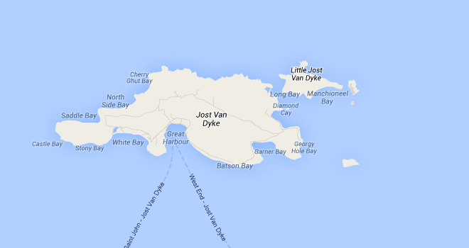 Jost Van Dyke Map Rum Therapy Island Guide St Thomas Pinterest