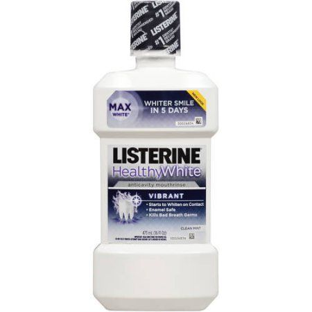 Listerine Healthy White Clean Mint Anticavity Fluoride