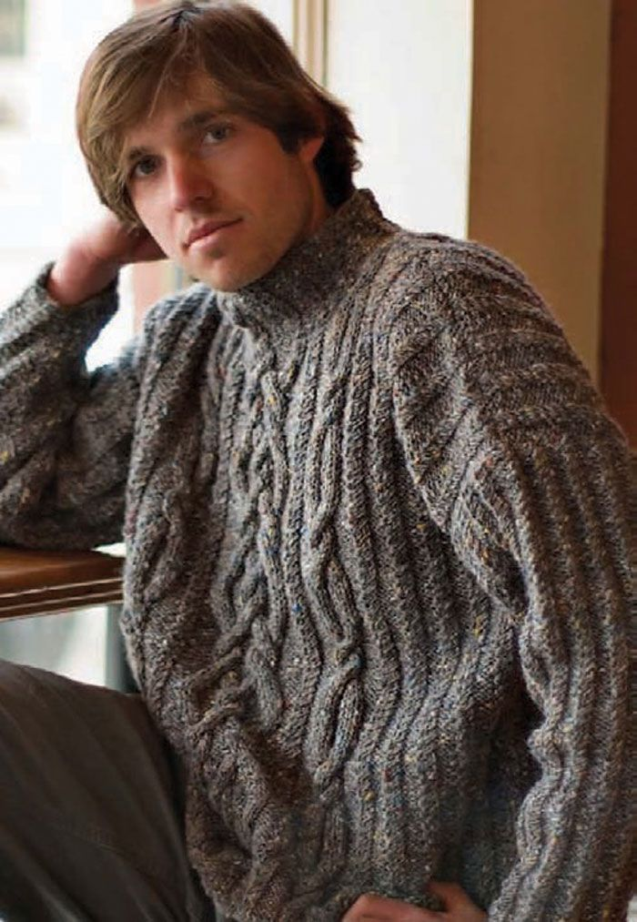 7 Free Knitting Patterns for Men Every Guy Will Love | Cable knit ...