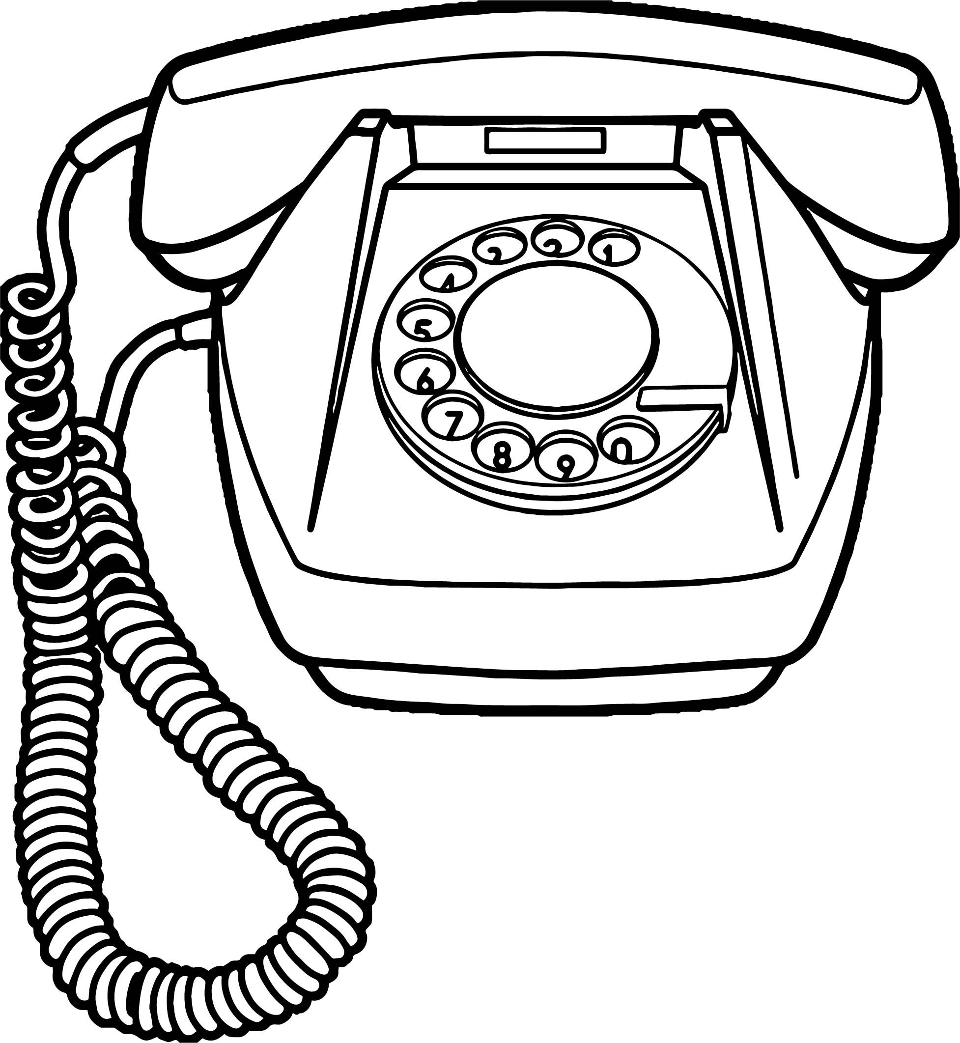 Nice Any Old Telephone Coloring Page