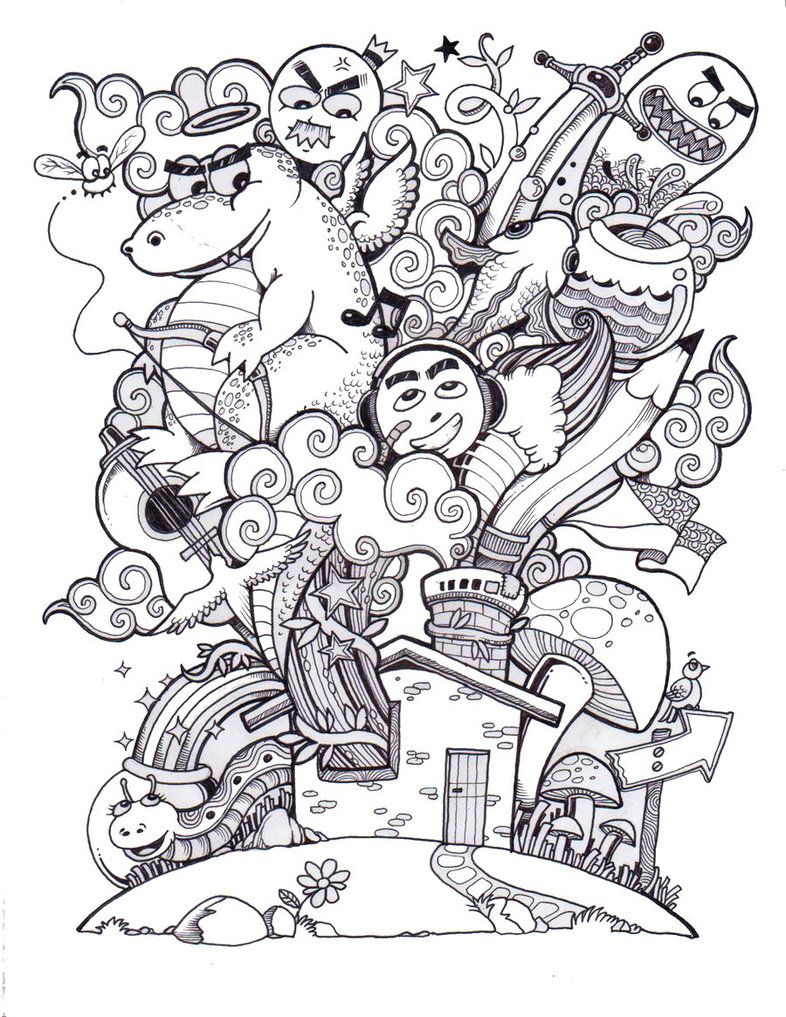 My Entry To The Doodlers Anonymous Coloring Book Volume Cant Wait For Final Print Doodle