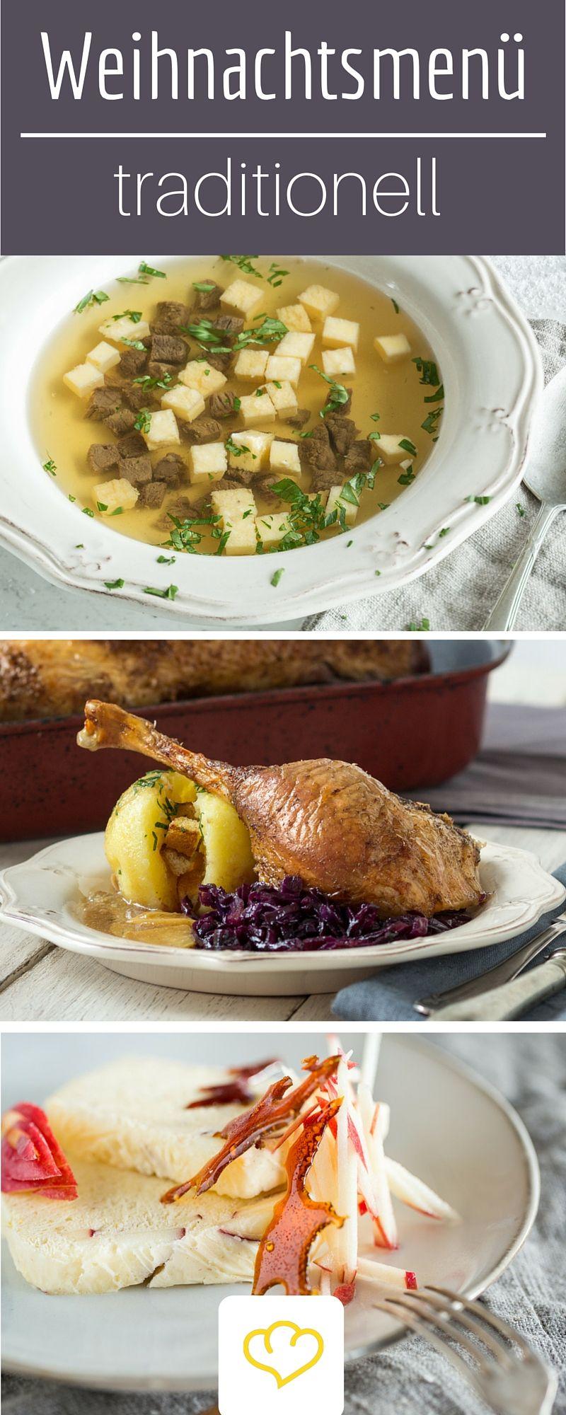 Für den richtigen Weihnachtszauber: 3 Gänge Menü mit einer feinen Rinderbrühe, Gänsebraten und Apfel-Zimt-Parfait