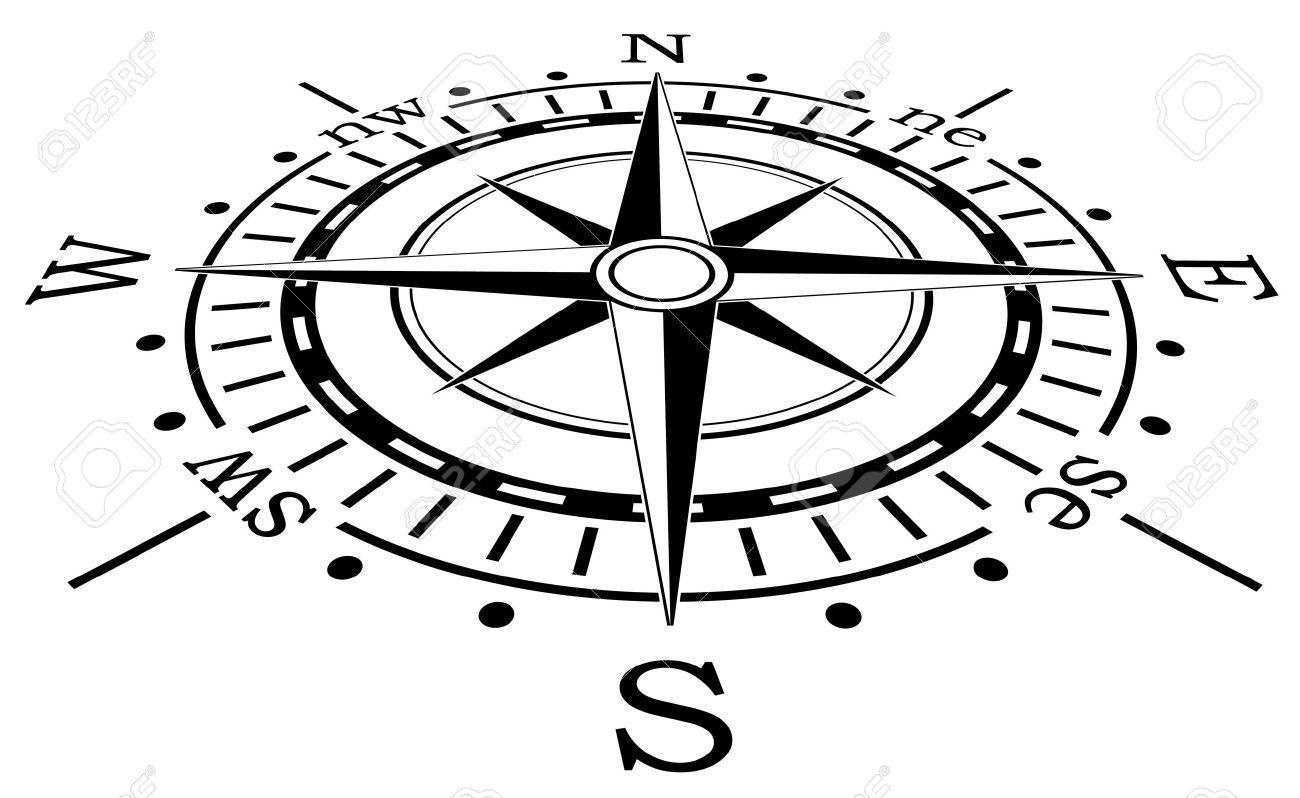 Vector Design Of Black Compass Stock Vector