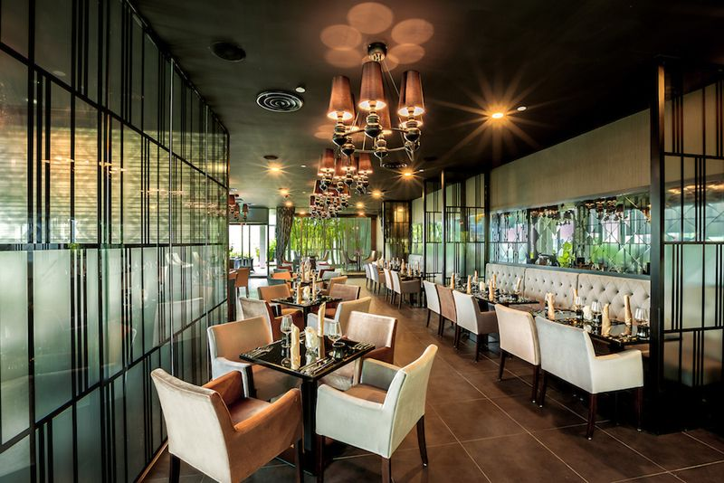 joie restaurant contemporary chic interiors with pretty views