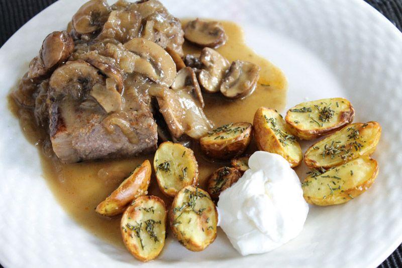 Steak with Ultimate Mushroom Sauce