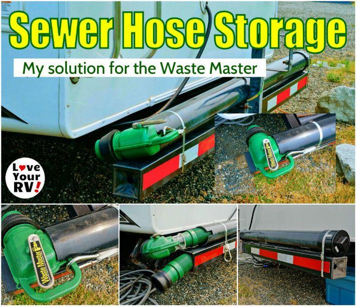 Waste Master RV Sewer Hose Storage Solution Hose storage