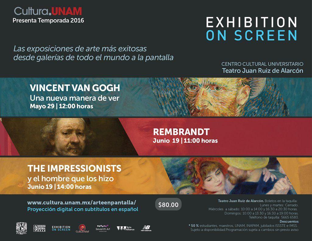 Marca en tu calendario los domingos 29 de mayo y 19 de junio porque tenemos proyecciones de #ExhibitionOnScreen.