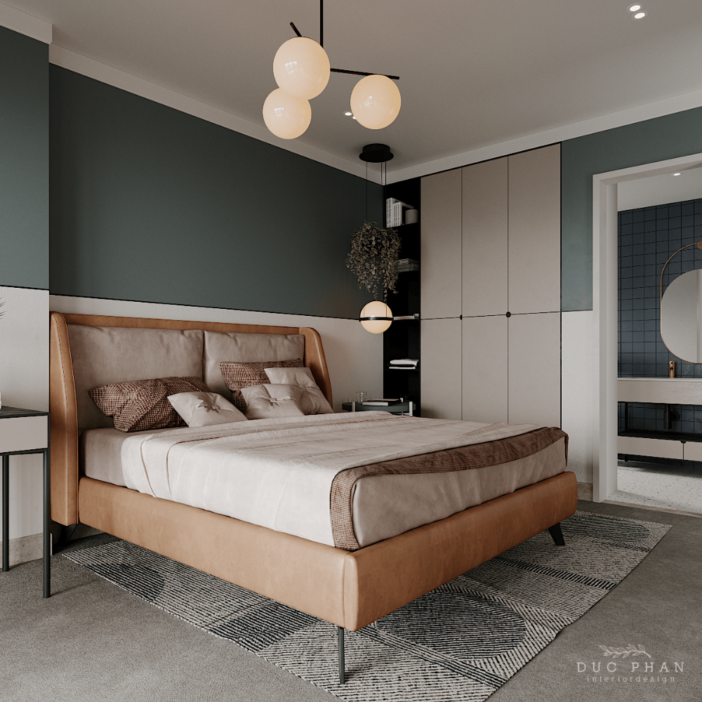 Bedroom In Contemporary Style On Behance: THE EMERALD Part II On Behance In 2020