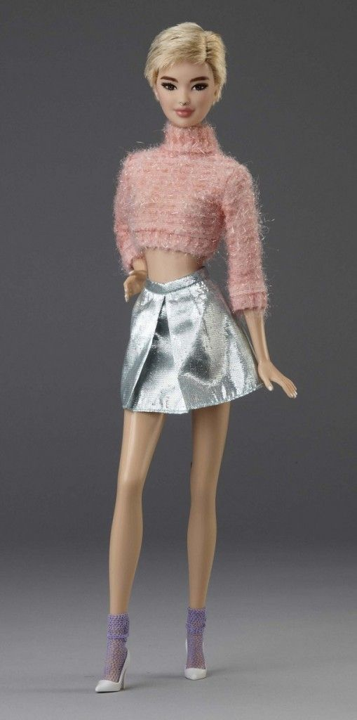 "BArbie Nineties New Era Collection by Carlyle Nuera ""Coral Fluffy Sweater"" OOAK 
