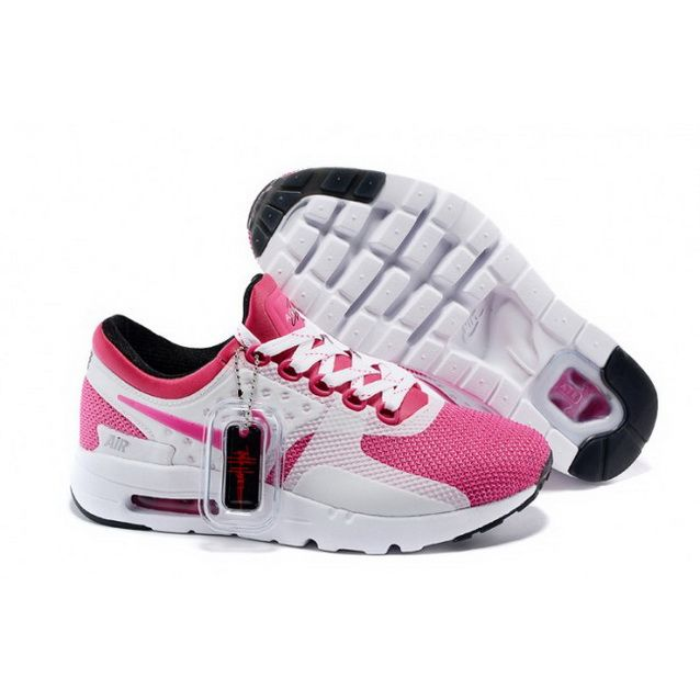 sneakers for cheap ab7c1 757b2 Women Nike Air Max Zero Qs Shoes White Pink Black