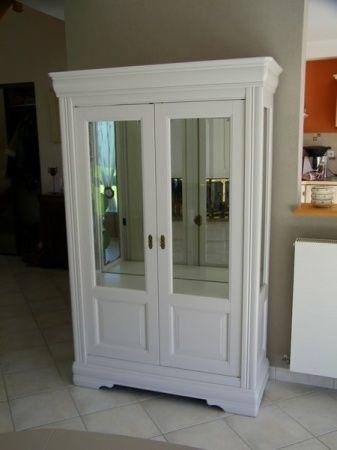 Meubles salle à manger merisier peints gris clair à Meauffe dans la ...