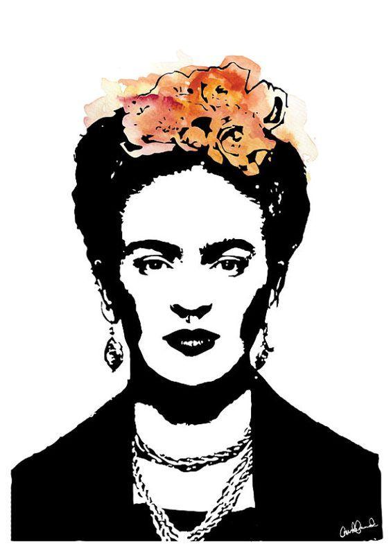 Bilderesultat For Stencil Frida Kahlo Para Imprimir With Images