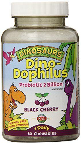 KAL Dino-Dophilus Probiotic 2 Billion Chewables Black Cherry 60 Count For  Sale https: