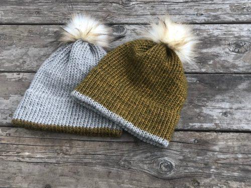 Double Brim Hat Knitting Pattern (Written pattern and ...