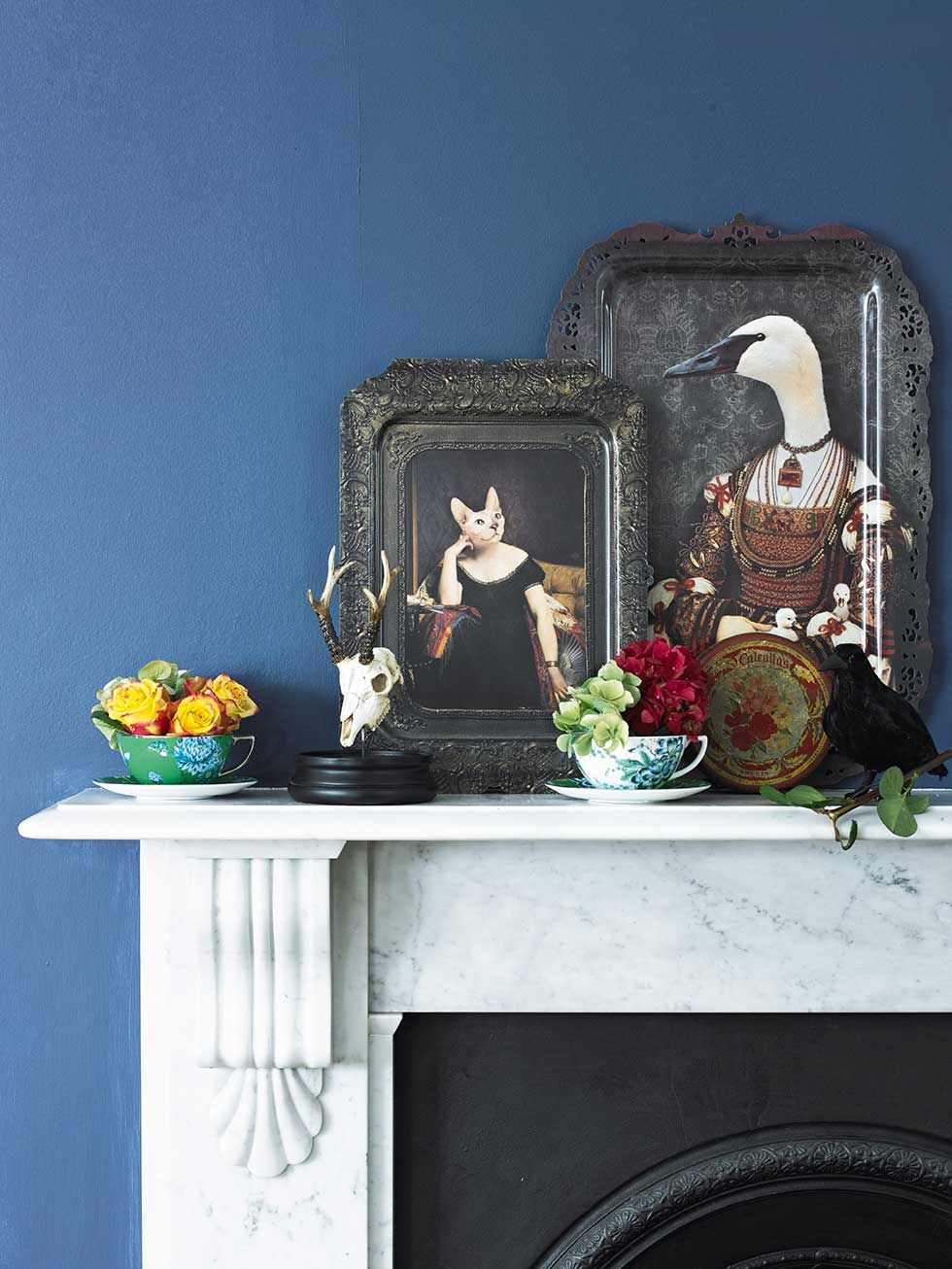 eclectic british interior decorating fireplace mantle accessories ...