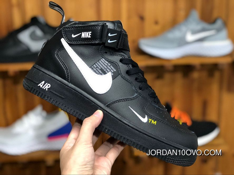 Nike Air Force One Af1 Simplified Ow Black White High 1