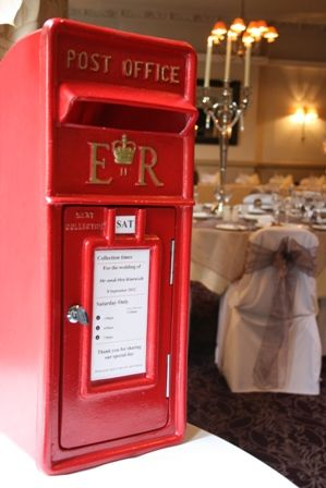 Royal Mail Post Box For Hire Wedding Cards