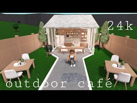 Bloxburg Outdoor Cafe Speed Build 24k Youtube In 2020 Unique House Design Tiny House Layout Outdoor Cafe