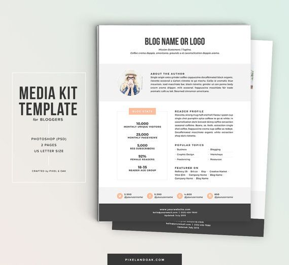Media kit template no1 psd by pixel oak on etsy po shop media kit template no1 psd by pixel oak on etsy pronofoot35fo Image collections