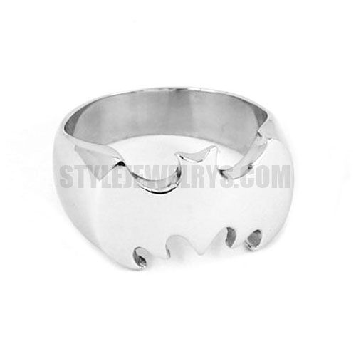 Stainless Steel Jewelry Ring Silver Batman Ring SWR0007