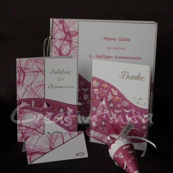 serie welle pink oder türkis - kommunion | kommunion