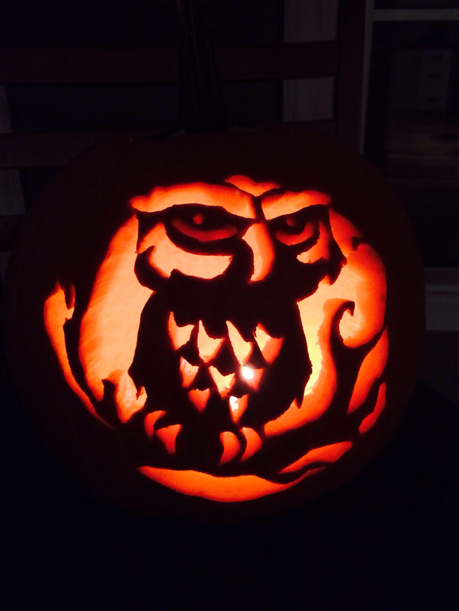 Owl Pumpkin Carving! Took me 3 hours haha