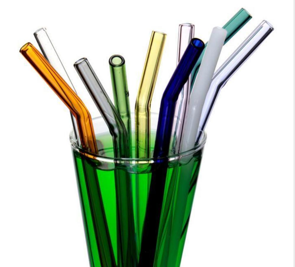 6pcs Réutilisable Pailles silicone Cocktail Pailles avec 1pc de nettoyage brushte