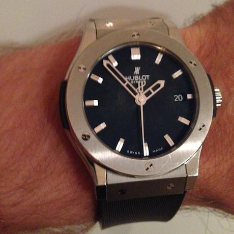 Henrik Lundqvist S Hublot Big Bang Quartz Watch Details Watches