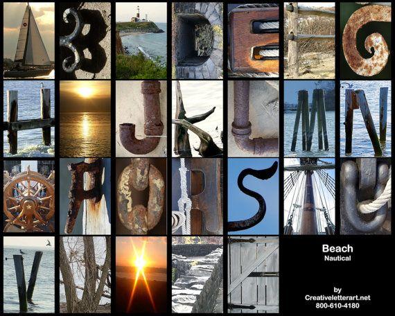 Az Alphabet Beach Theme By Creative Letter By Creativeletterart